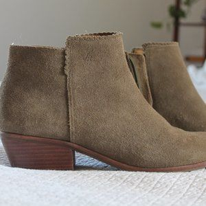 Jack Rogers Olive Bailee Suede Ankle Bootie